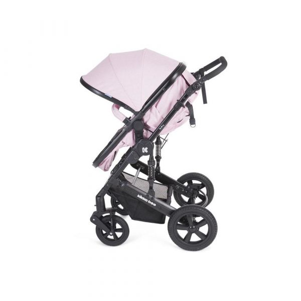 Carucior combinat 2 in 1 cu scaun de masina Kikka Darling 2019 pink black ribbon