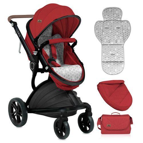 Carucior combinat 2 in 1 cu scaun de masina Lorelli Lumina 2018/2019 red