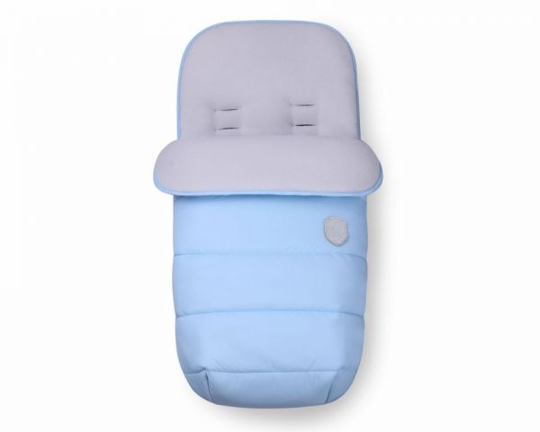 Sac de dormit pentru carucior Kikka Embroidered baby blue