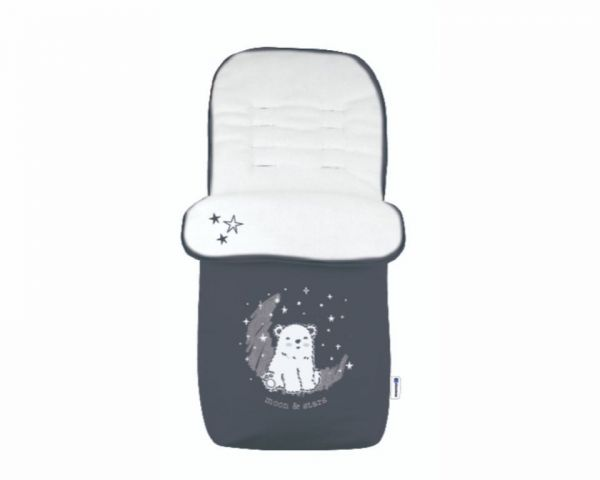 Sac de dormit pentru carucior Kikka Polar bear navy