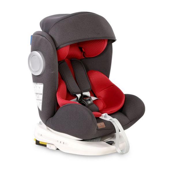 Scaun auto cu isofix Lorelli Lusso 2020 black red 0-36 kg