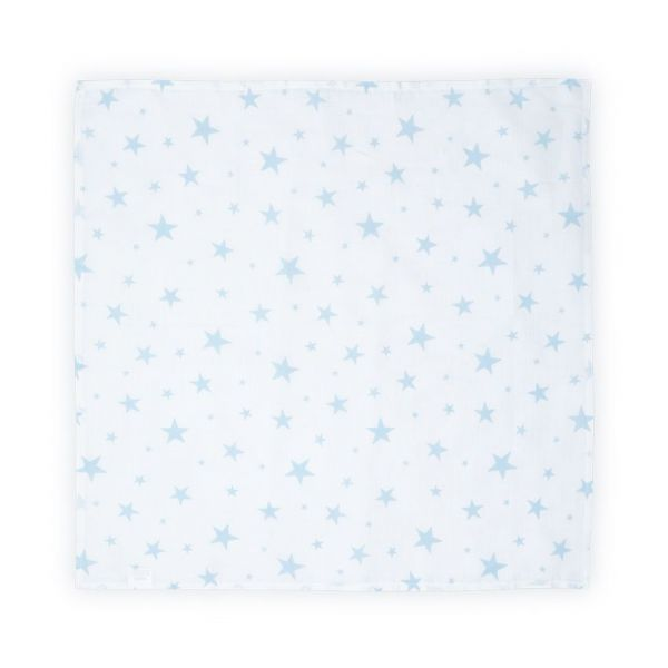 Scutec din bumbac Lorelli 80x80 cm blue stars