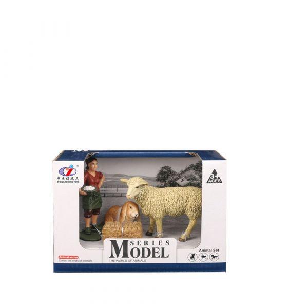 Set 2 figurine cu animale de ferma Animal Series