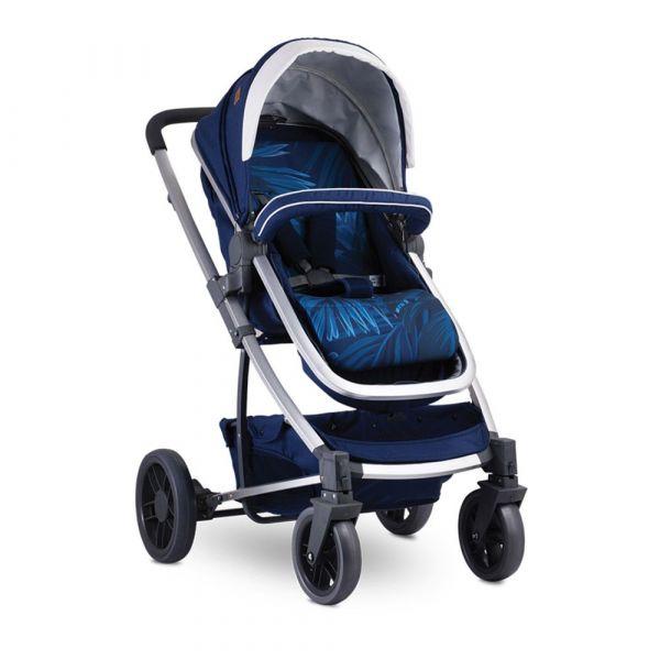 Set carucior si scaun auto Lorelli S-500 2019 dark blue flowers