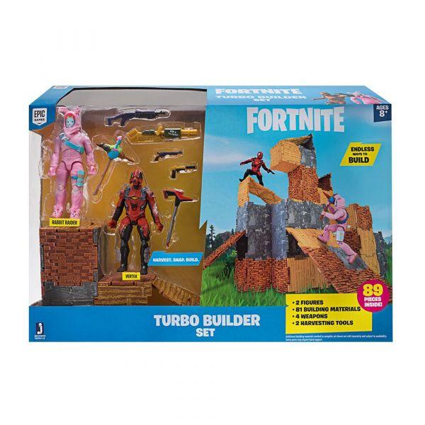 Set de joaca cetate Fortnite Turbo Builder cu 2 figurine