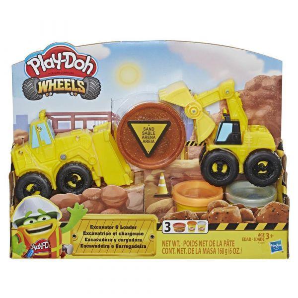 Set Hasbro Play Doh Wheels Excavator si Incarcator