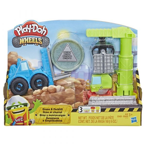 Set Hasbro Play Doh Wheels Motostivuitor si Macara