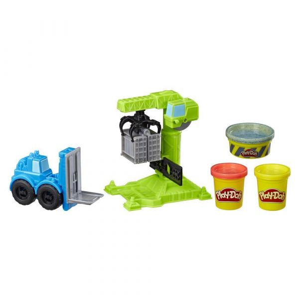 Set Hasbro Play Doh Wheels Motostivuitor si Macara