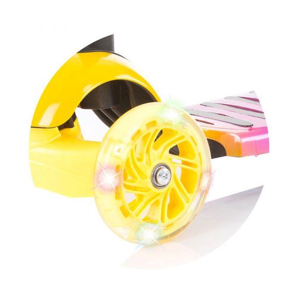 Trotineta Chipolino Disco yellow pink