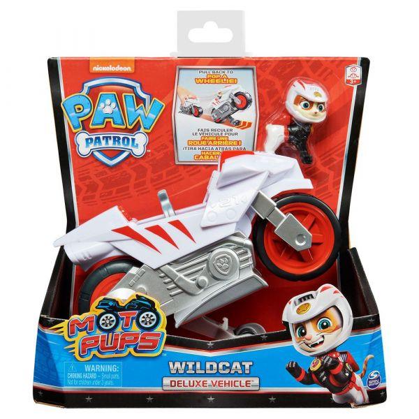 Vehicul cu figurina Patrula Catelusilor Moto Pups deluxe