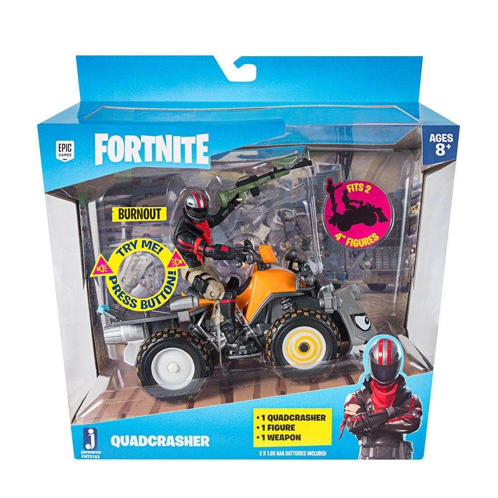 Figurina cu vehicul Fortnite Burnout with Quadcrasher imagine hippoland.ro