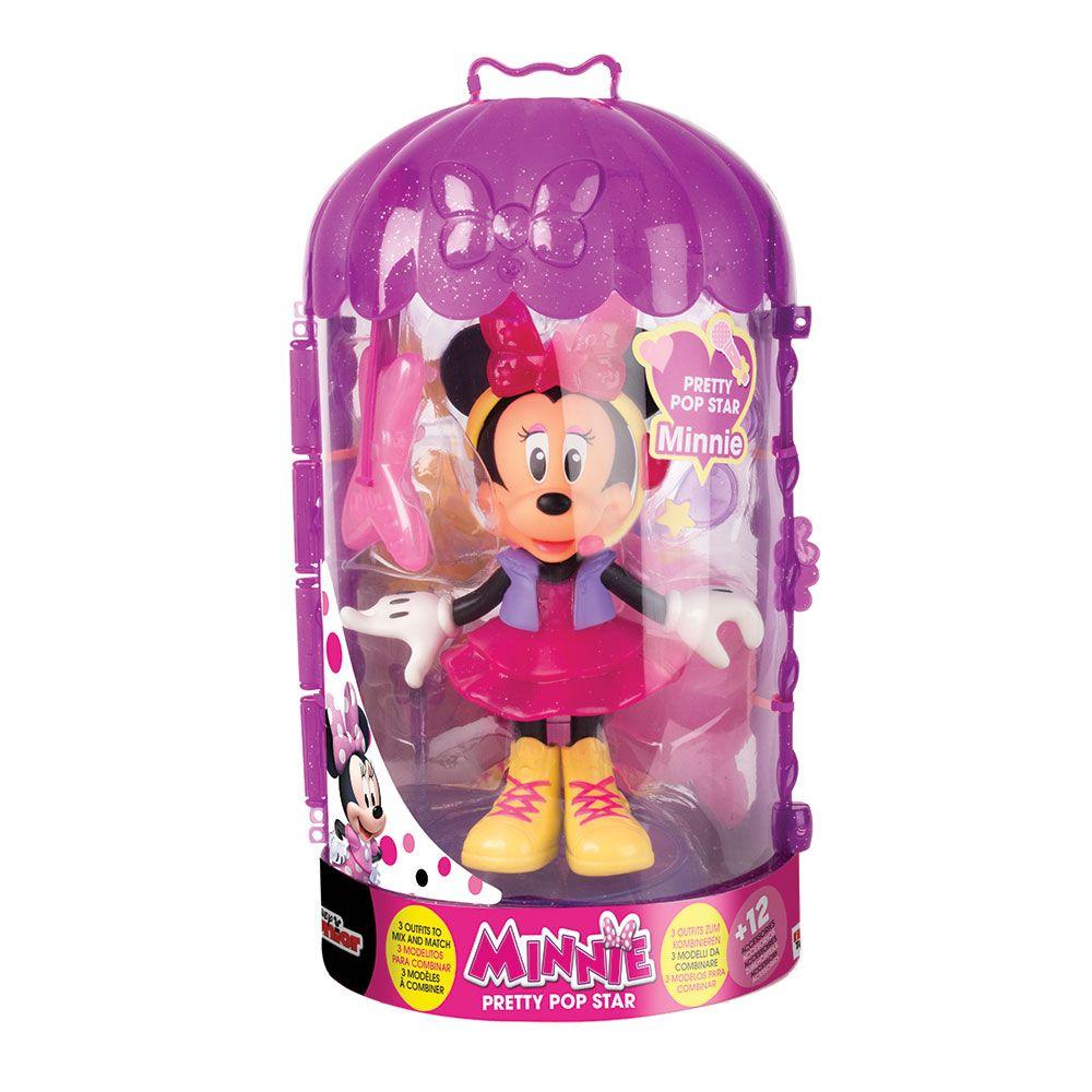 Figurina deluxe cu accesorii Disney Minnie Mouse Pop Stars imagine hippoland.ro