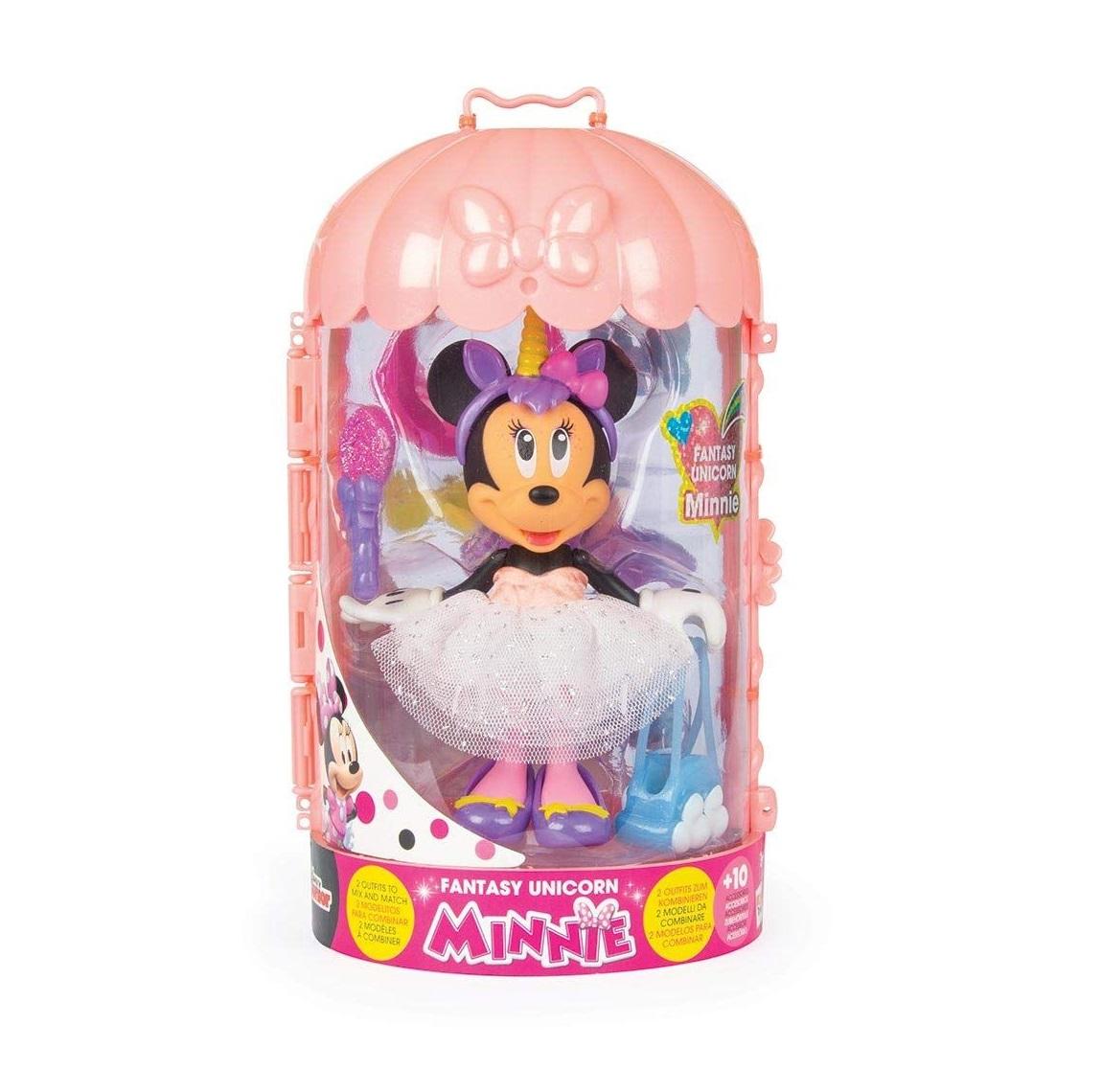 Figurina deluxe cu accesorii Minnie Fashion Doll Fantasy Unicorn