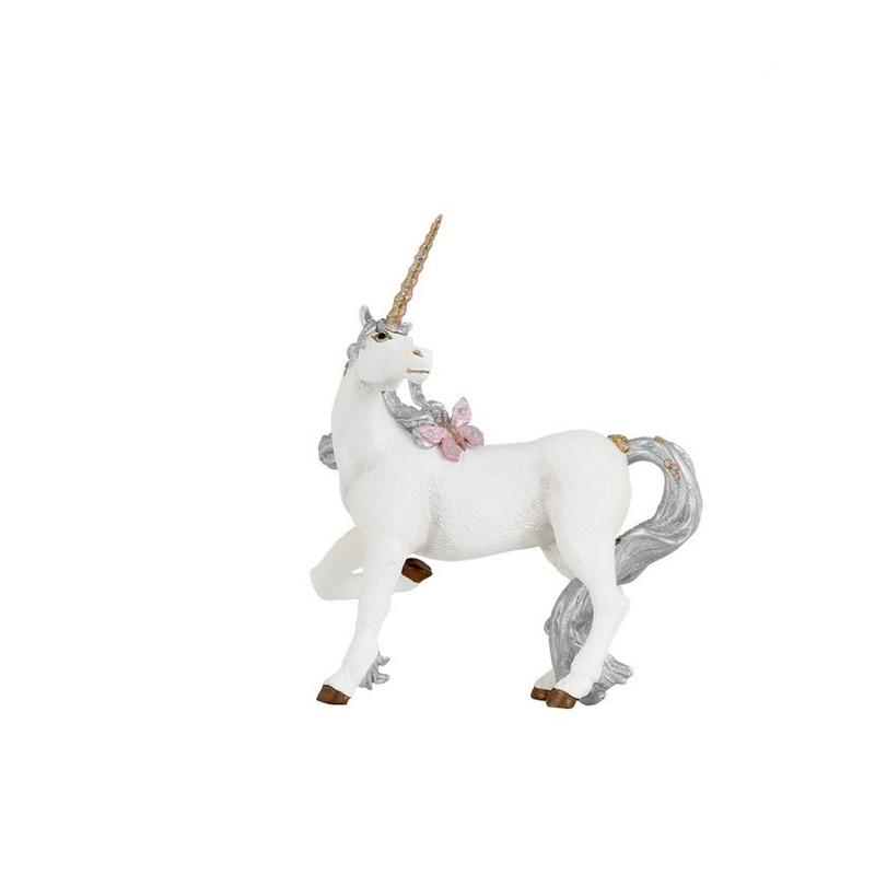 Figurina Papo Unicorn argintiu imagine hippoland.ro