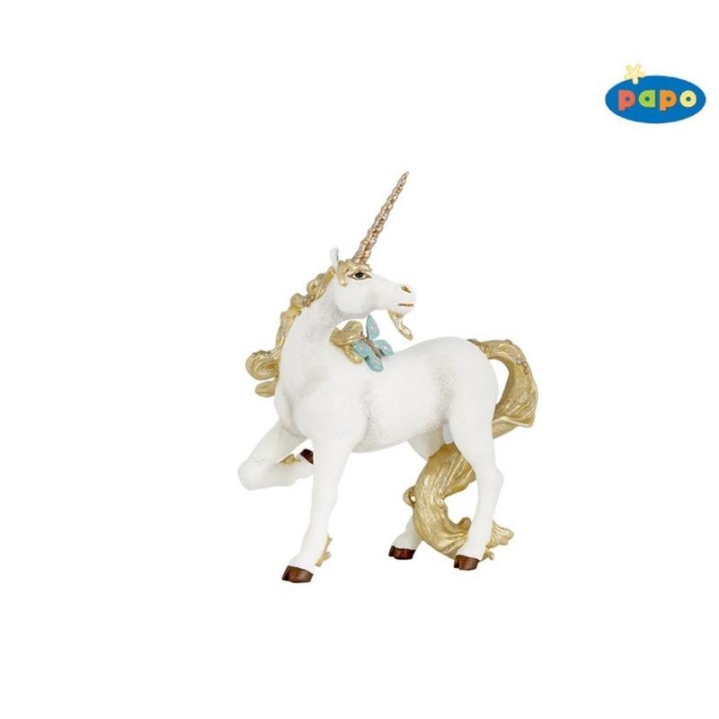 Figurina Papo Unicorn auriu imagine hippoland.ro