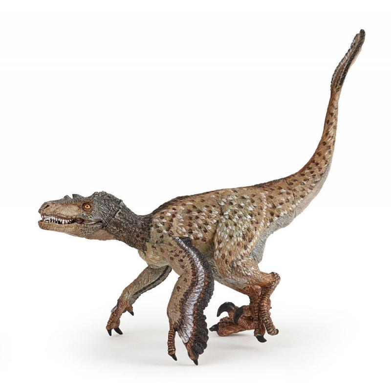 Figurina Papo Velociraptor cu pene imagine hippoland.ro