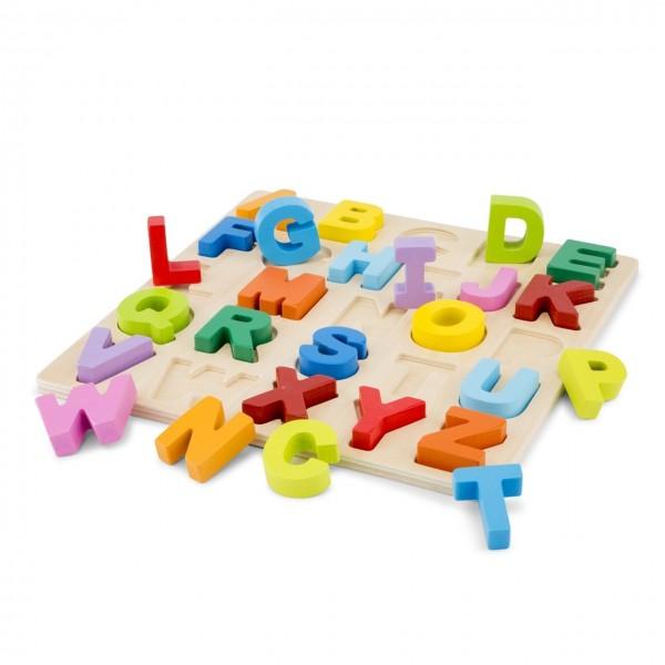 Joc educativ New Classic Toys puzzle alfabet litere mari