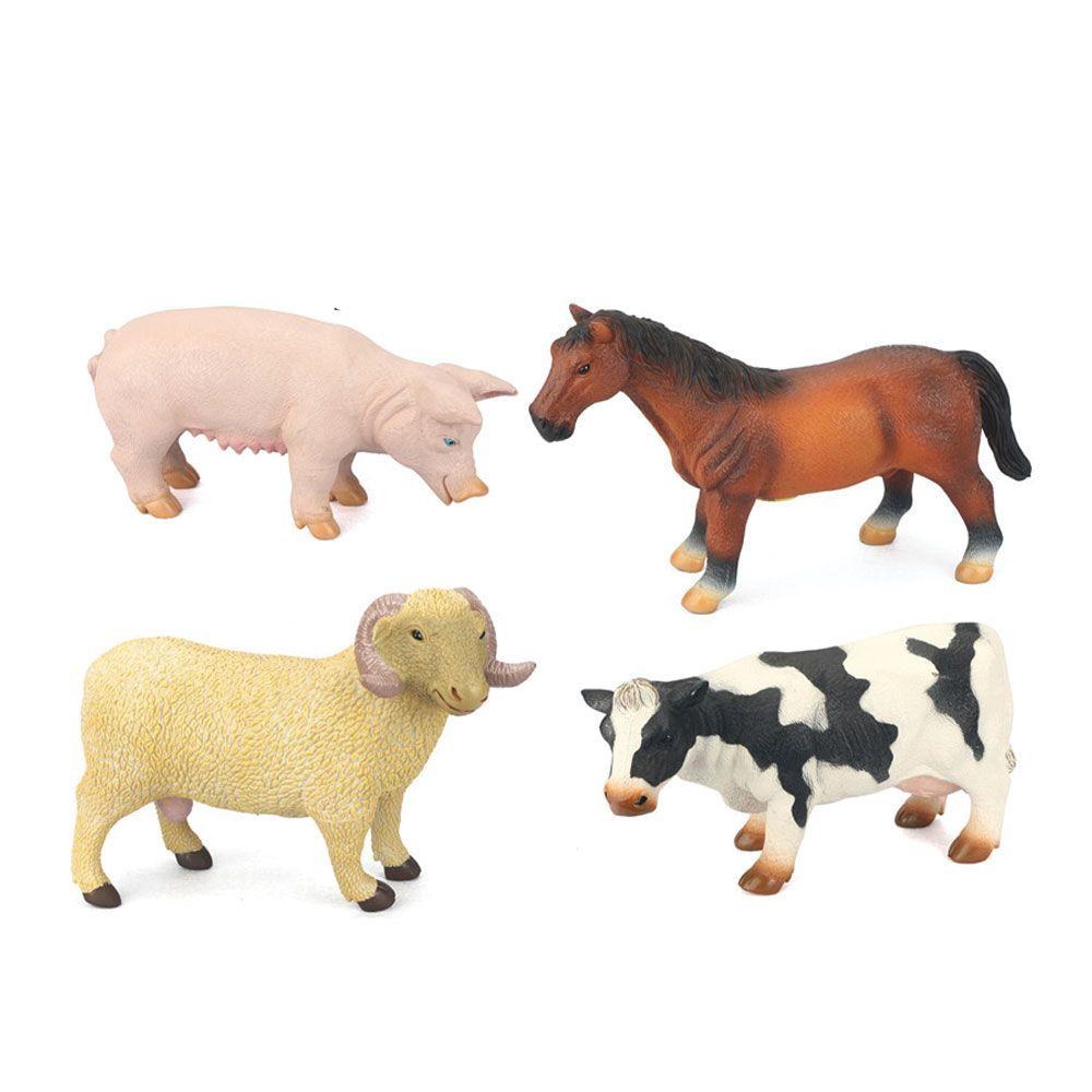 Jucarie animal de ferma cu sunete Berbec, Vaca, Porc, Cal imagine hippoland.ro