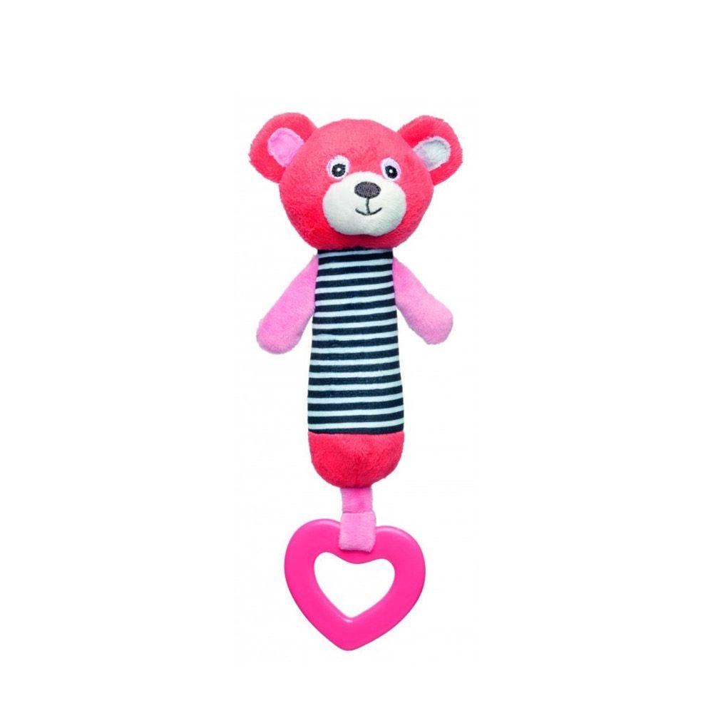 Jucarie de plus cu zornaitoare Canpol Bear pink, corai imagine hippoland.ro