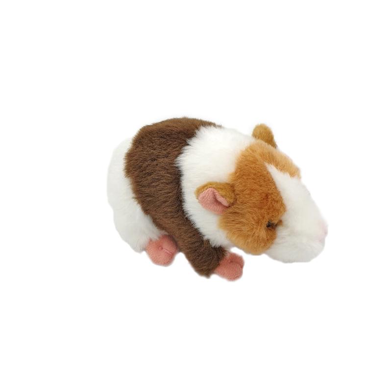 Jucarie de plus hamster maro cu bej 12 cm imagine hippoland.ro
