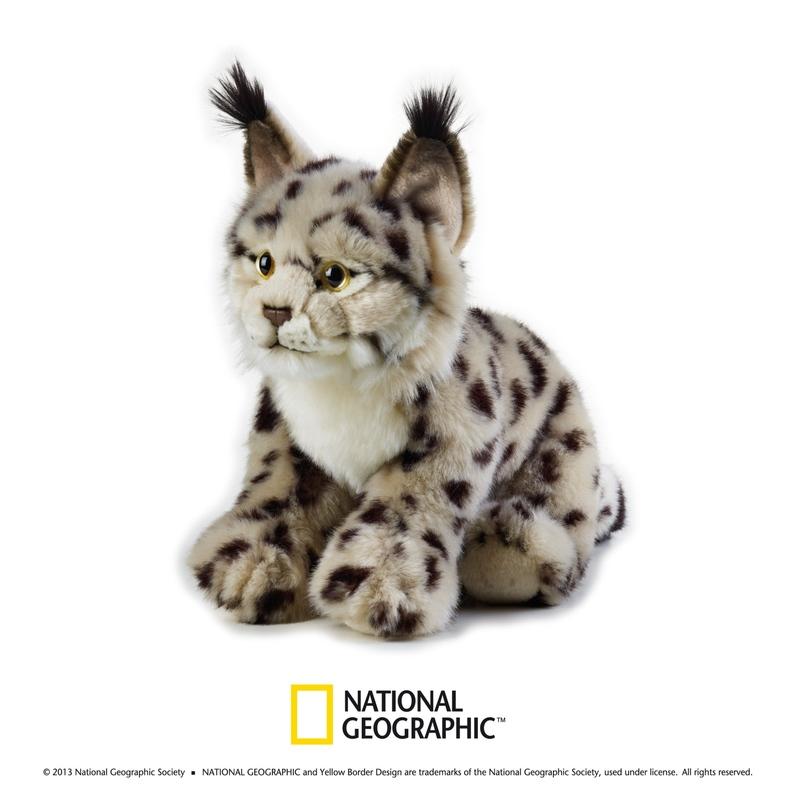 Jucarie de plus National Geographic Linx 25 cm