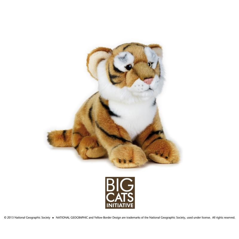 Jucarie de plus National Geographic Tigru 25 cm imagine hippoland.ro