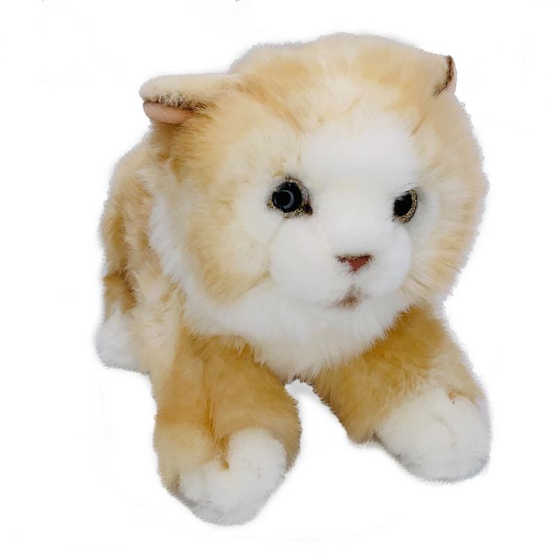 Jucarie de plus pisicuta Cleo bej 25 cm imagine hippoland.ro