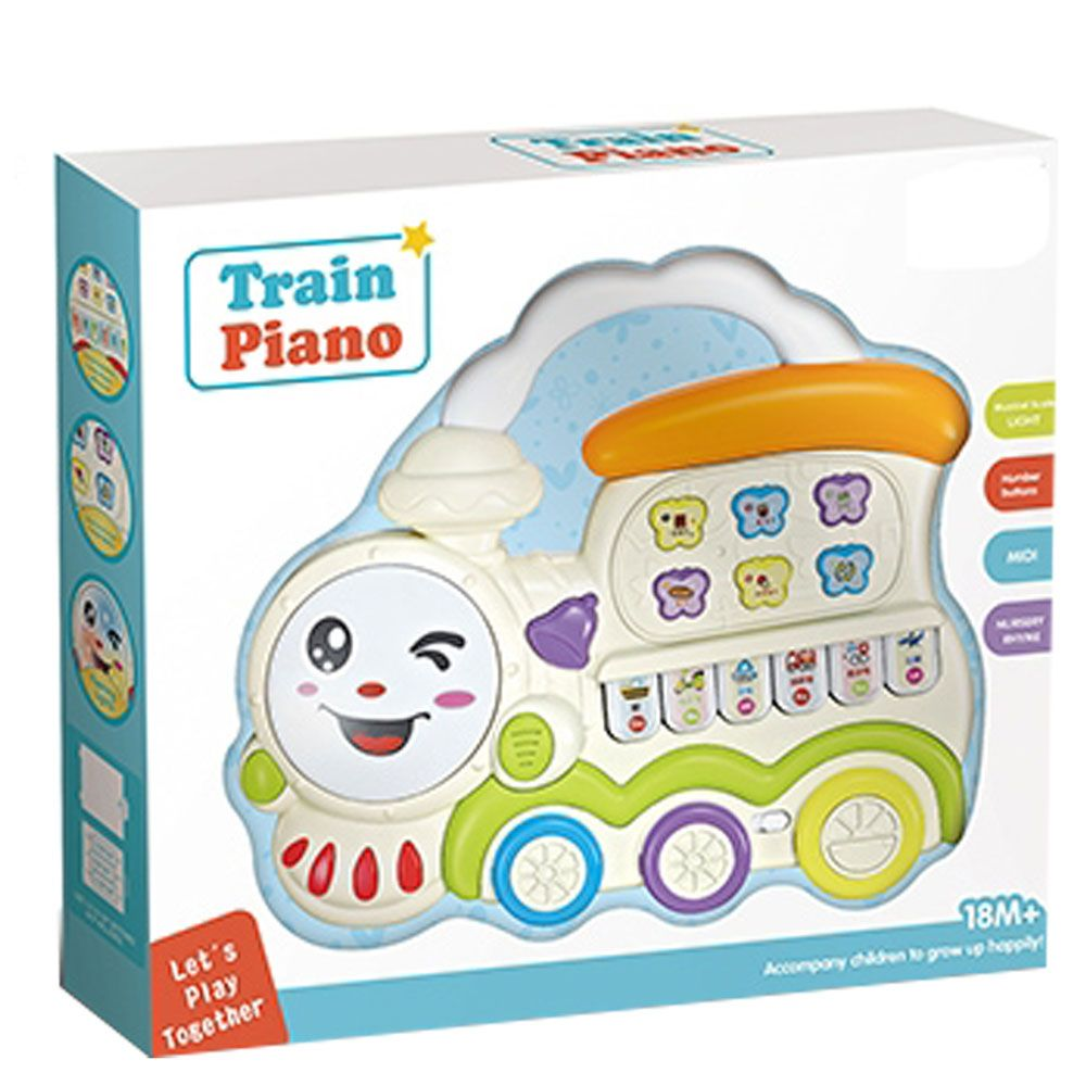 Jucarie pentru bebelusi trenulet cu pian