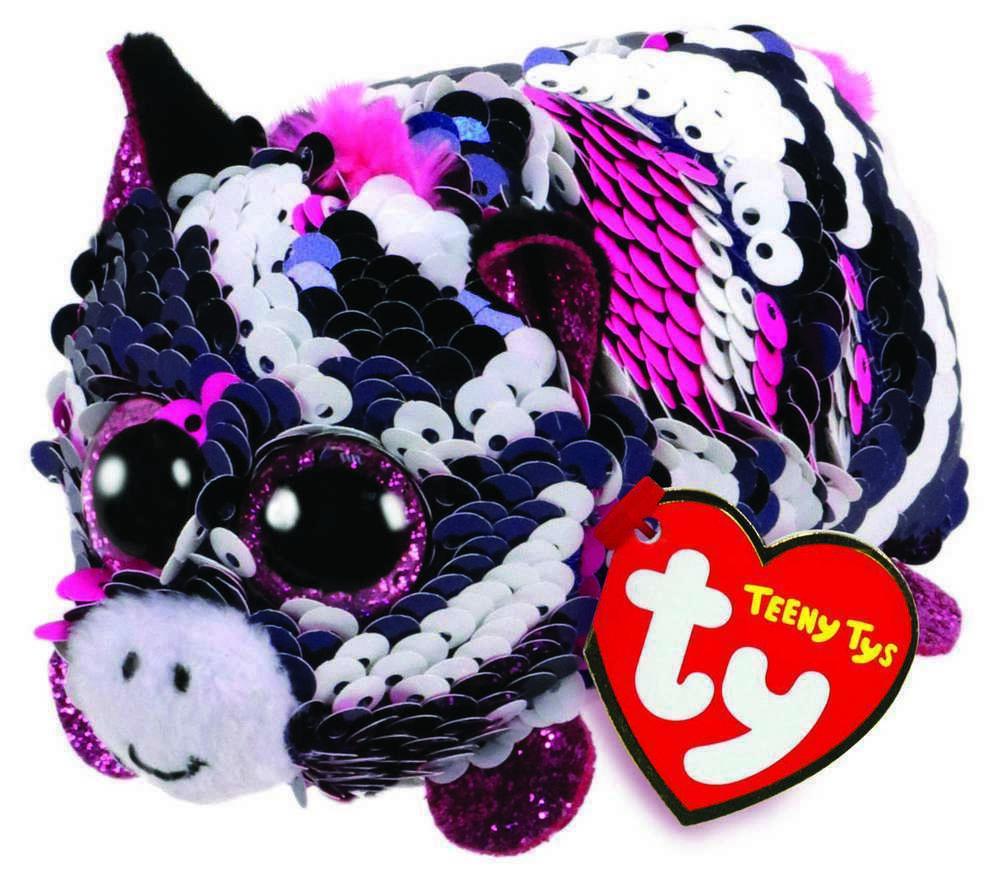 Jucarie TY Teeny Tys Flippables Zoey pink zebra imagine hippoland.ro