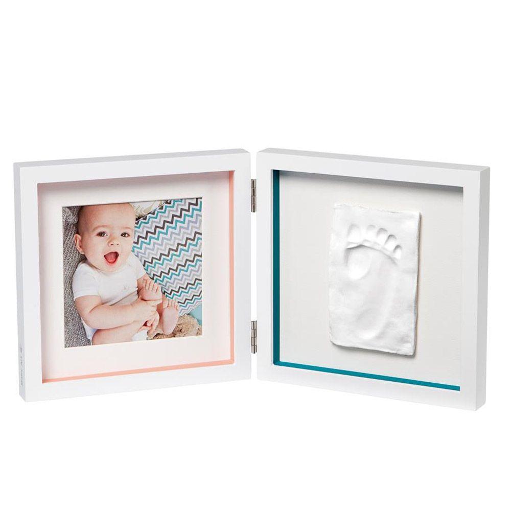 Kit mulaj cu rama dubla Baby Art Timeless My Baby Style white imagine hippoland.ro