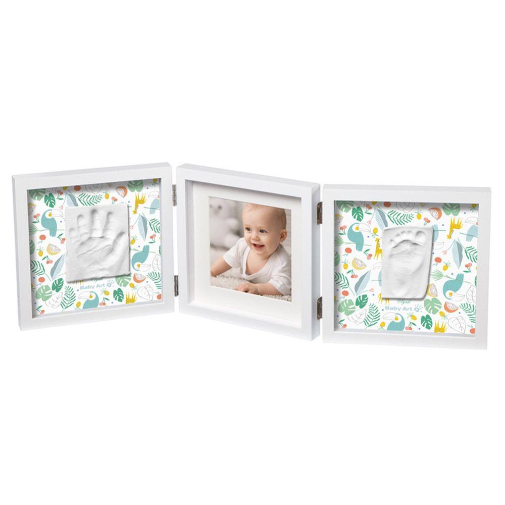 Kit mulaj dublu cu rama foto Baby Art Timeless My Baby Style white