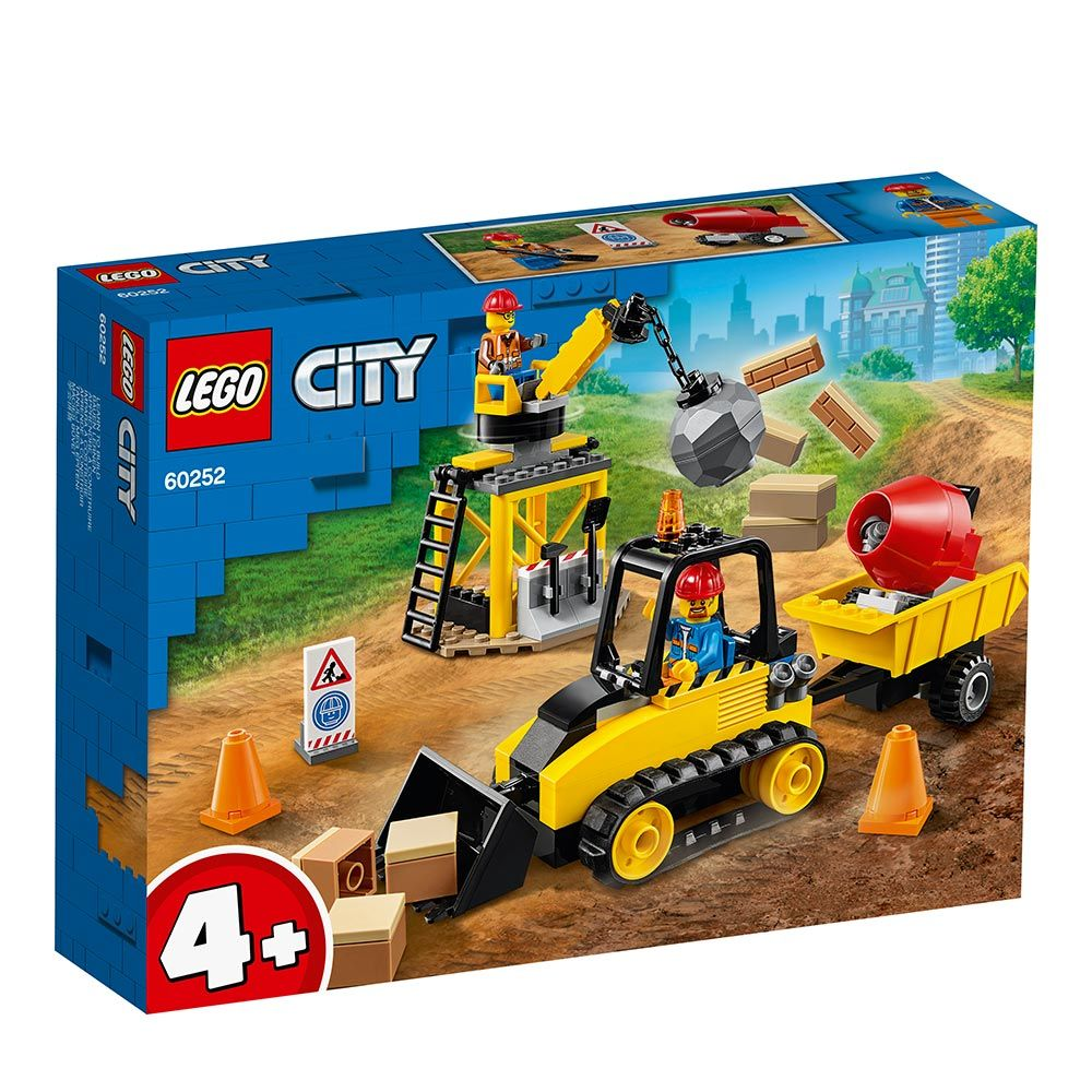 Lego City Buldozer pentru Constructii 60252 imagine hippoland.ro