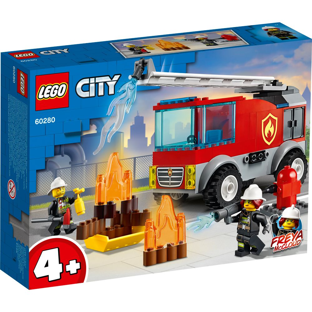 Lego City Masina de pompieri cu scara 60280 imagine hippoland.ro