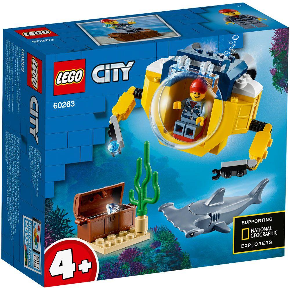 Lego City Minisubmarin Oceanic 60263 imagine hippoland.ro