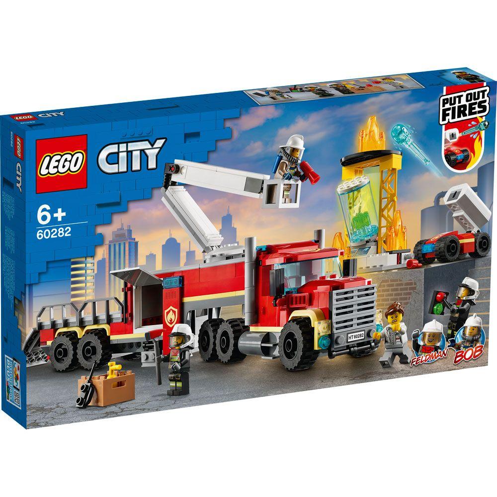 Lego City Unitate de comanda a pompierilor 60282 imagine hippoland.ro
