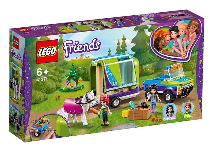 Lego Friends Remorca de transportat cai a Miei 41371 imagine hippoland.ro
