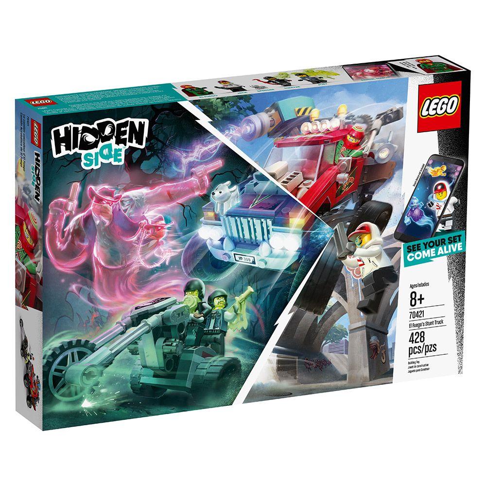 Lego Hidden Side Camionul de cascadorii al lui El Fuego 70421 imagine hippoland.ro