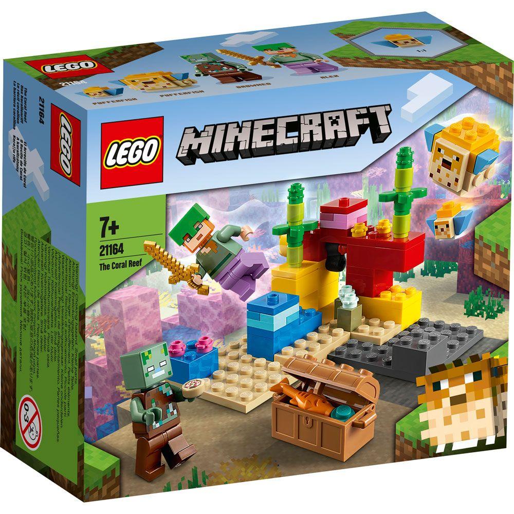 Lego Minecraft Reciful de corali 21164 imagine hippoland.ro