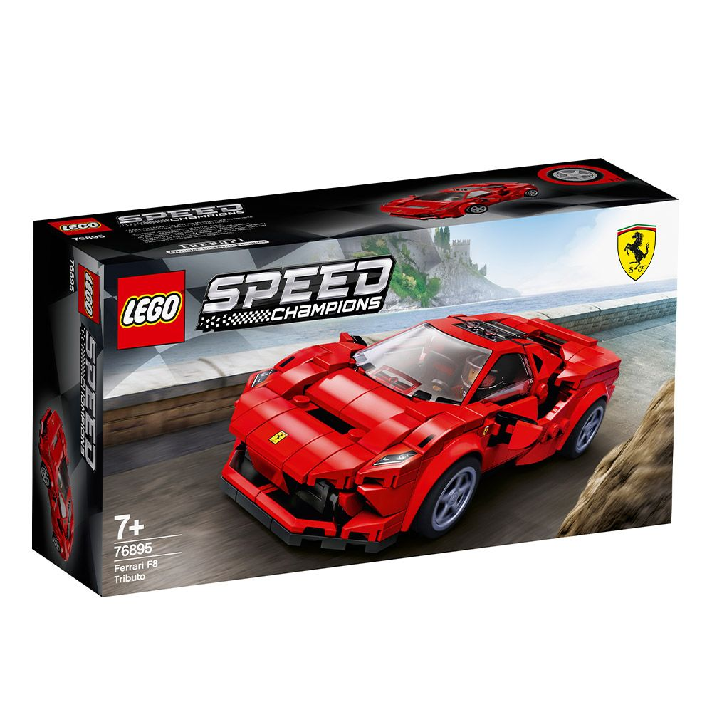 Lego Speed Champions Ferrari F8 Tributo 76895 imagine hippoland.ro