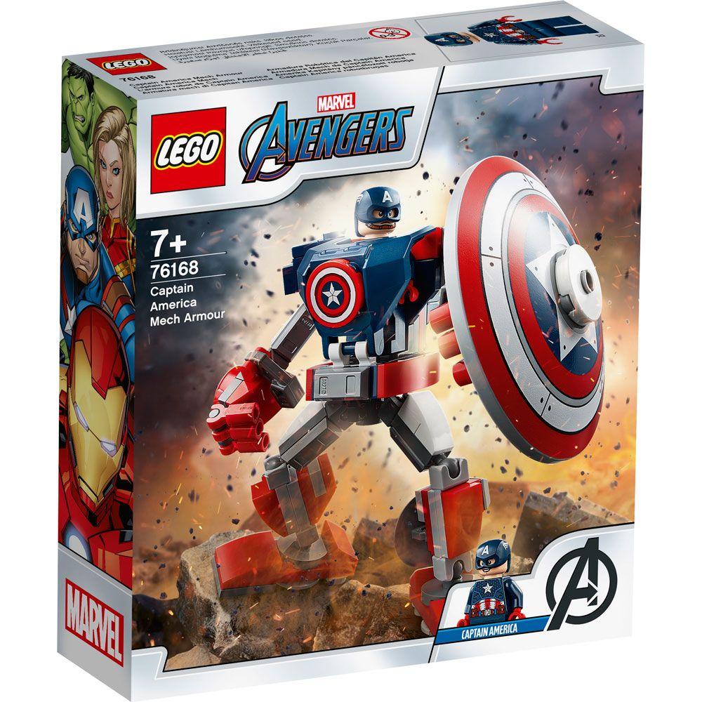 Lego Super Heroes Armura lui Captain America 76168 imagine hippoland.ro