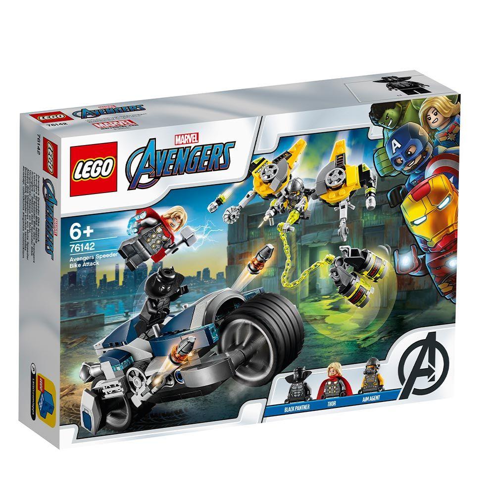 Lego Super Heroes Atacul Razbunatorilor cu Motocicleta 76142