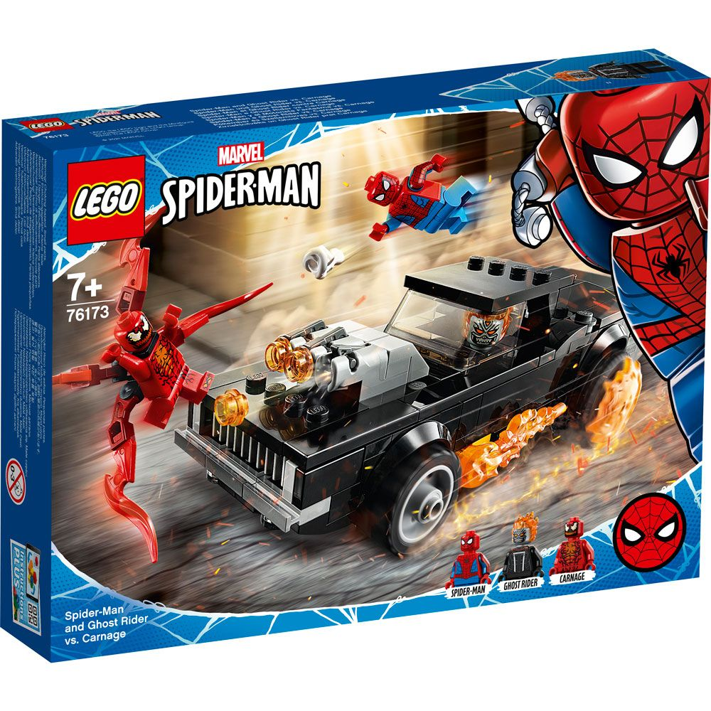 Lego Super Heroes Spider-Man si Ghost Rider vs Carnage 76173 imagine hippoland.ro