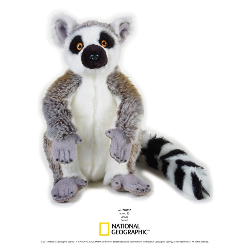 Lemur de plus National Geografic 30 cm imagine hippoland.ro