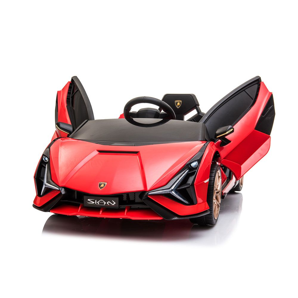 Masina cu acumulator Ocie Lamborghini Sian 6 V Red 8690019R imagine hippoland.ro