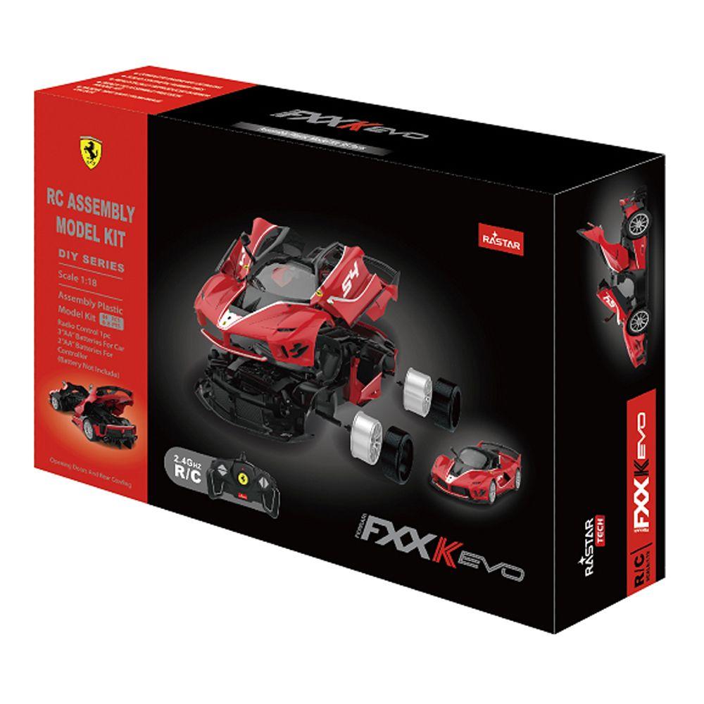 Masina de asamblat cu telecomanda Rastar Ferrari Evo 1:18 imagine hippoland.ro