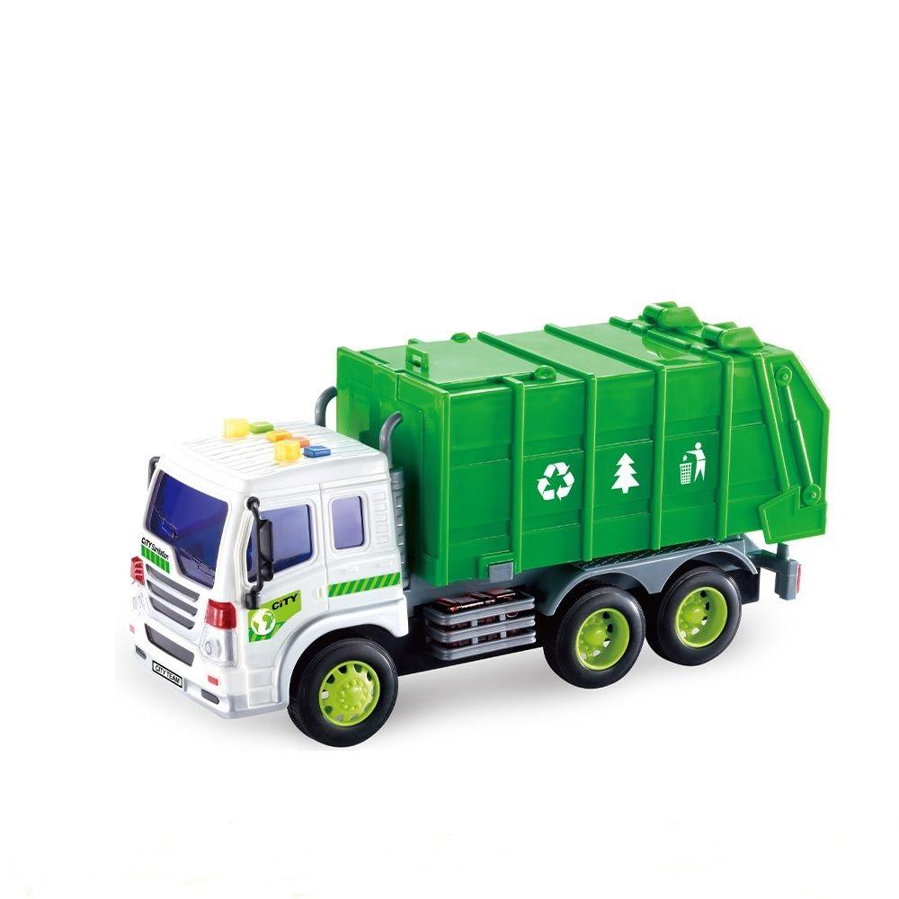 Masina de gunoi cu sunete si lumini City Service imagine hippoland.ro