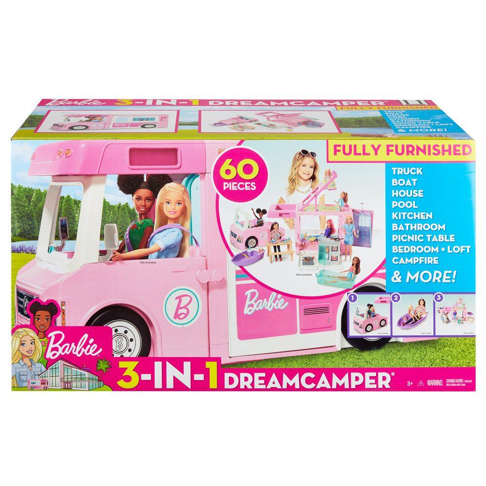 Masinuta Barbie 3 in 1 Rulota de vis imagine hippoland.ro