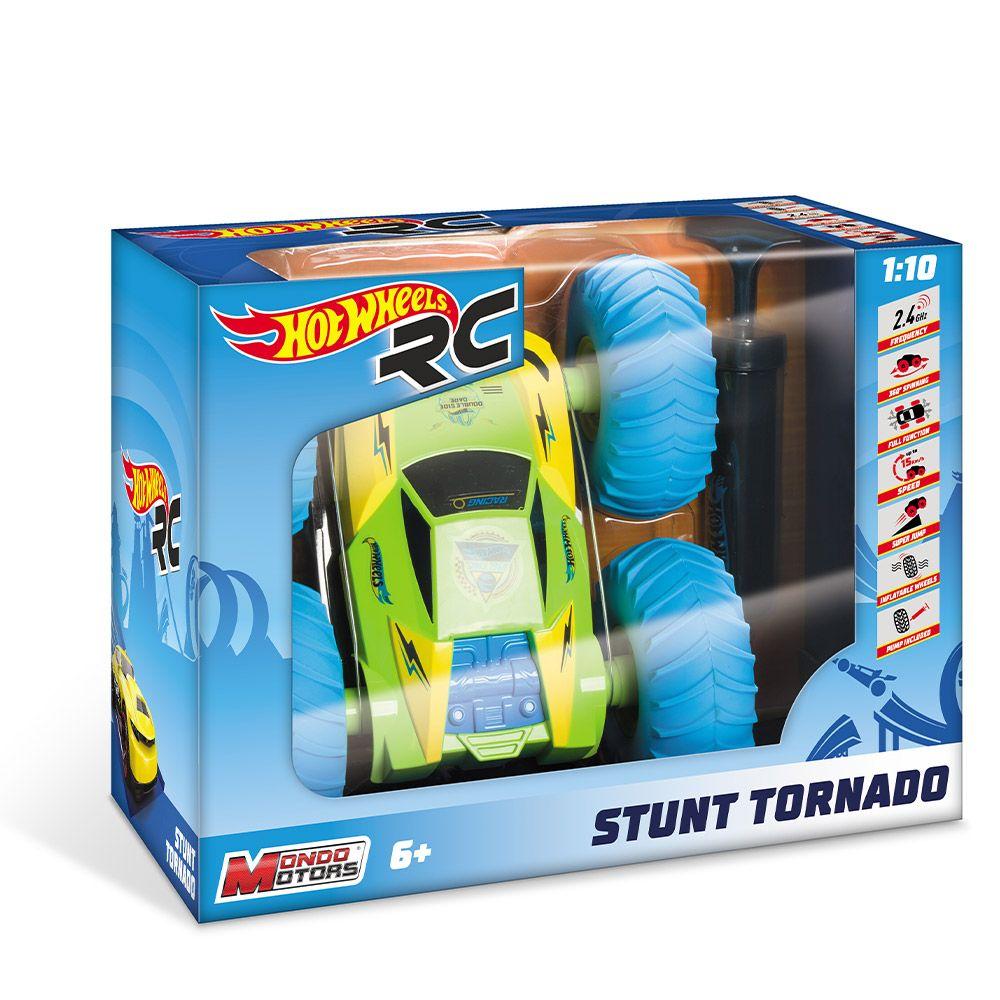 Masinuta cu telecomanda Mondo Hot Wheels Stunt Tornado 1:10 imagine hippoland.ro