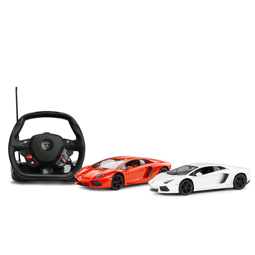 Masinuta cu telecomanda volan Rastar Lamborghini Aventador LP700 1:14 imagine hippoland.ro