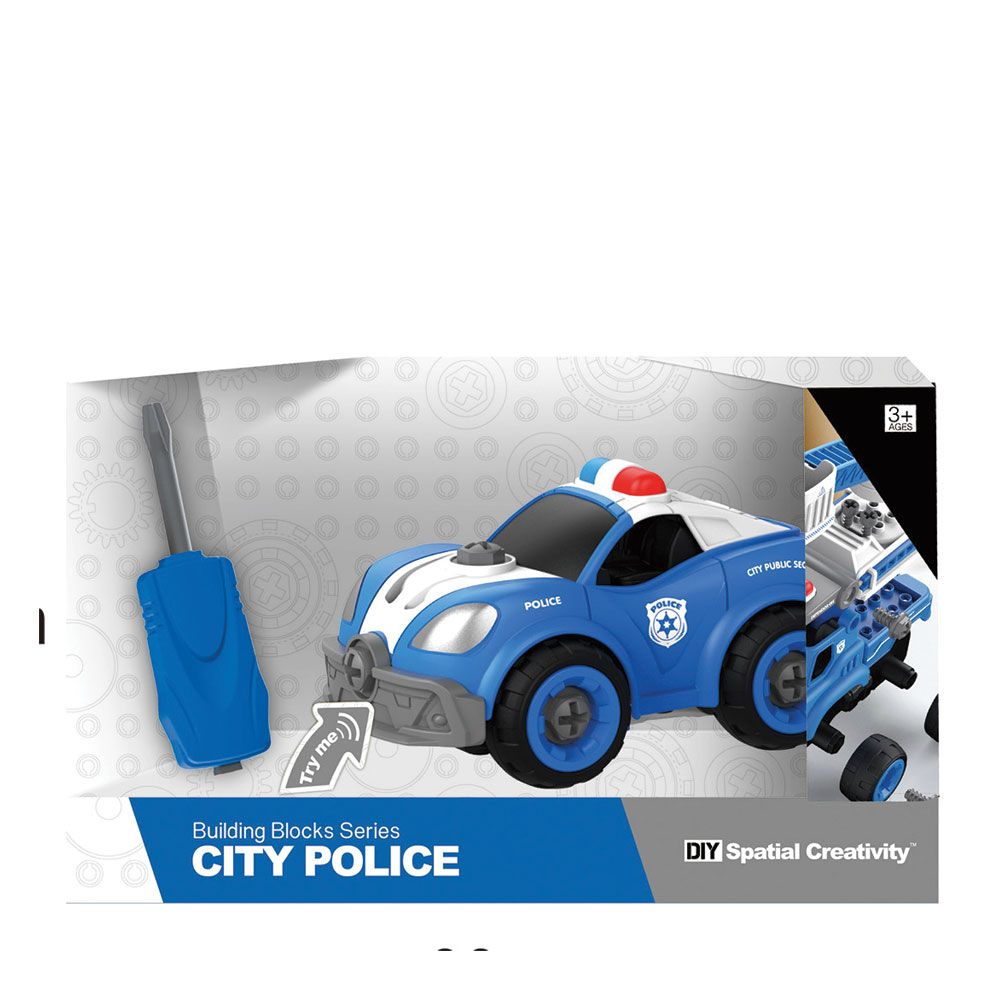 Masinuta de politie de asamblat City Police